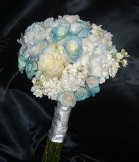 Kansas citys roses only brand roses blue roses white roses and white stock flowers mightylinksfo